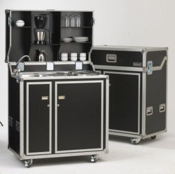 Vivicum - Kleine Küche im Schrank oder Koffer, auch mobil mit Rollen
