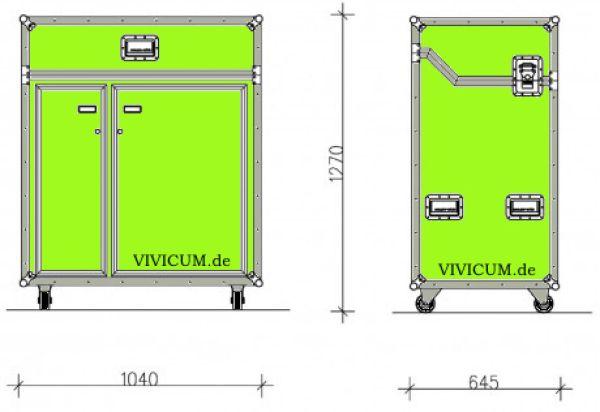 vivicum kitcase die mobile k che im koffer als messe. Black Bedroom Furniture Sets. Home Design Ideas