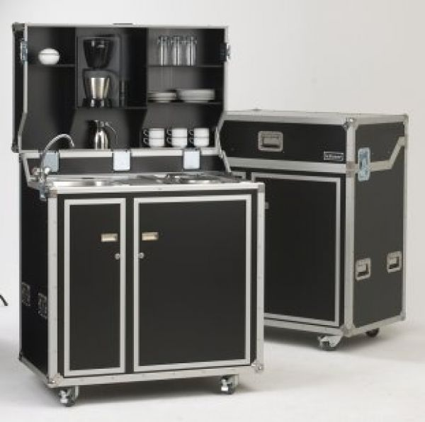 Pantry Küche vivicum kitcase die mobile küche im koffer als messe küche