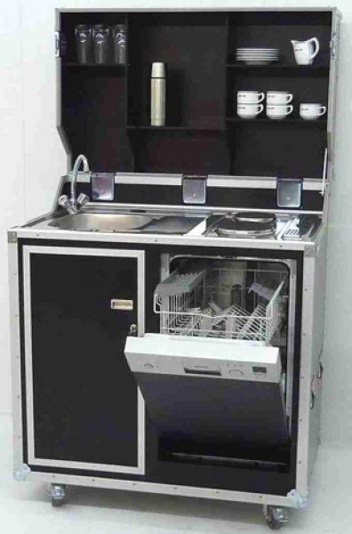 vivicum kitcase die mobile k che im koffer als messe k che pantry k che single k che. Black Bedroom Furniture Sets. Home Design Ideas