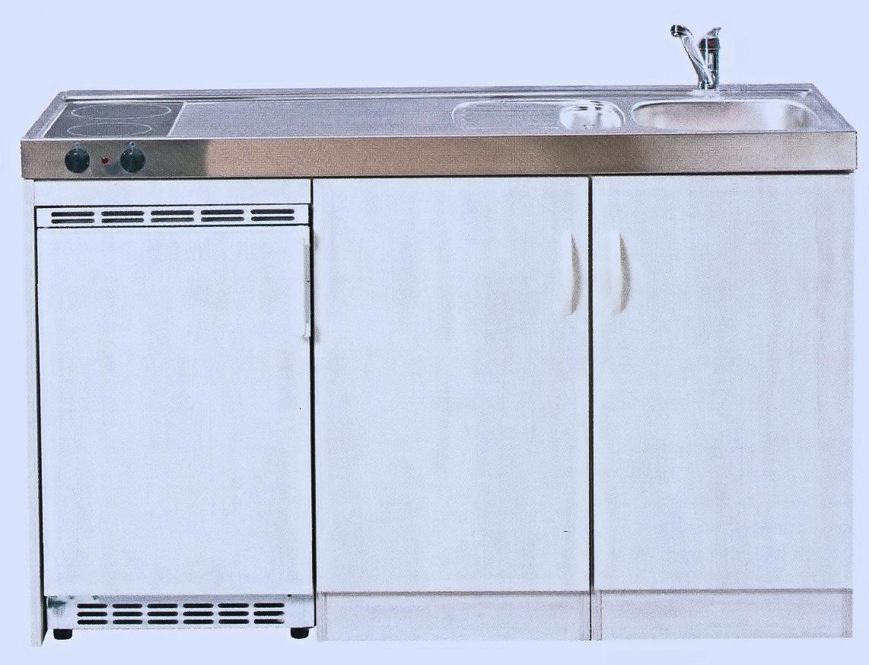 Miniküche mit Kühlschrank, 150 cm breit