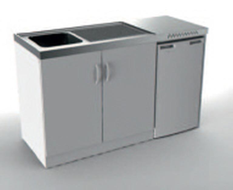 Miniküche Mit Kühlschrank Gebraucht : Vivicum miniküche mit kühlschrank cm breit günstig kaufen