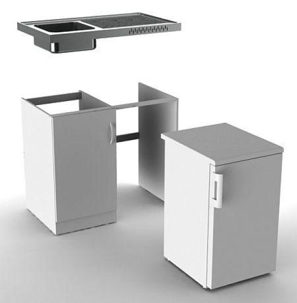 vivicum minik che mit k hlschrank und mikrowelle 120 cm g nstig kaufen. Black Bedroom Furniture Sets. Home Design Ideas