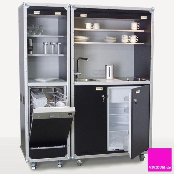 vivicum kitchencase light version die mobile b rok che im rollenden schrankkoffer. Black Bedroom Furniture Sets. Home Design Ideas